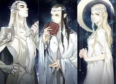 my favourite part of this is how thranduil looks so haughty compared to the other two