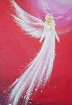 "Guardian Angel Art Photo ""To the love"" Christmas Gift Ideas for Her, Wife Best Friend. Apartment Decor Based on Original Acrylic Painting - Limited angel art photo to the love modern angel by HenriettesART - Top Paintings, Paintings Of Angels, Acrylic Paintings, Angel Drawing, I Believe In Angels, Angel Pictures, Rock Art, Painting Inspiration, Painting & Drawing"