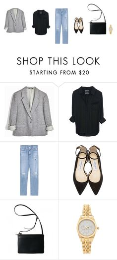 """Untitled #3288"" by memoiree ❤ liked on Polyvore featuring AG Adriano Goldschmied, Jimmy Choo and Forever 21"