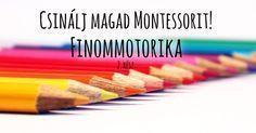 Még több aranyos Montessori finommotorika fejlesztő játék, amit akár otthon is elkészíthetsz! Jó szórakozást! Baby Crafts, Crafts For Kids, Montessori, Infancy, Kids And Parenting, Activities For Kids, Preschool, Teaching, Education