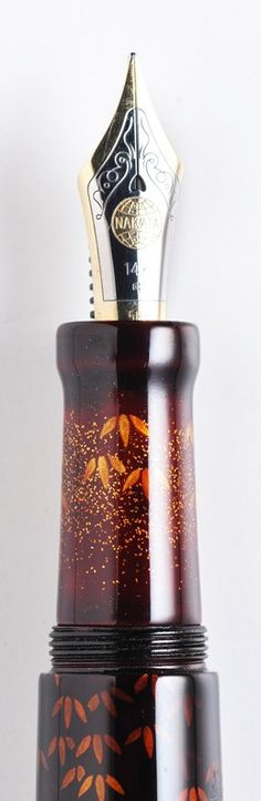 Nakaya Two-layered Tame-Sukashi Bamboo woods fountain pen nib section