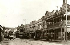 King St,Newtown,inner suburb of Sydney.View is west from junction of King and Elizabeth Sts,towards Missenden Rd in 1910.A♥W