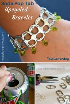 Pop Tab Bracelet Making Can Tabs How To Raise Money Easy Projects Tutorial Create Yourself Scouts Fundraising