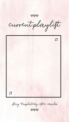 Instagram Story Template Pink Theme Current Playlist #instagram #storytemplates #instagramstorytemplates #storytemplate #insta