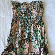 Floral strapless dress Floral strapless dress Dresses Strapless