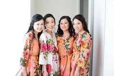 Bride & Maids getting ready by Total Brides hair & makeup