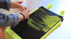 The Future Of Silkscreen: Print On Fabric Using Sunlight And An iPhone - DesignTAXI.com