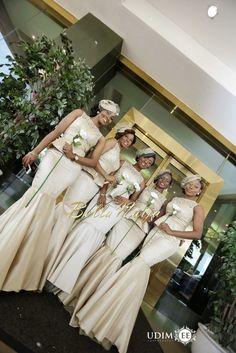 Jennifer Chioma Ayika & Bright Anaekwe's Wedding African Dresses For Women, African Attire, African Women, African Inspired Fashion, African Fashion, Ghanaian Fashion, Men's Fashion, Long Bridesmaid Dresses, Brides And Bridesmaids