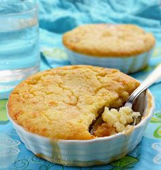 BISQUICK COBBLER - 1 Cup Bisquick 1 Cup Milk 1 Cup Sugar 1 Stick Margarine 1 Large Can Peaches -- in Heavy S...