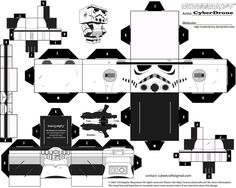free stormtrooper paper craft cubee printable