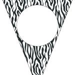 Bandeirinha Varalzinho  Fundo Zebra e Poá Rosa: