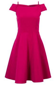 Klokkende jurk met mesh voering Roze