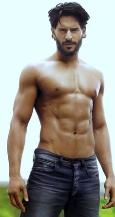 """Get out of my bed, Joe Manganiello,"" said no one ever.  YUM  Saw him in fireman get up the other day. holy hotness!"