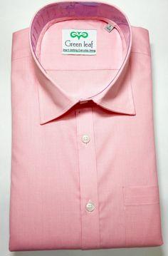 Pink color formal shirts online for men