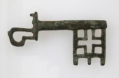 Key - Copper alloy roman key made in Gaul (France) (3rd-5th cent.)