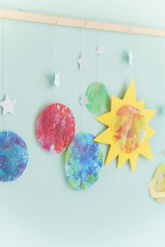 Melted Crayon Solar System Easy Diys For Kids, Diy Projects For Kids, Crafts For Kids, Melting Crayons, Crafty Kids, Having A Blast, Solar System, Party, Fun