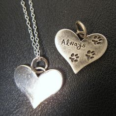 """""""Always' In Your Heart Necklace: Beautiful memorial piece in honor of your dog. Makes a great gift."""