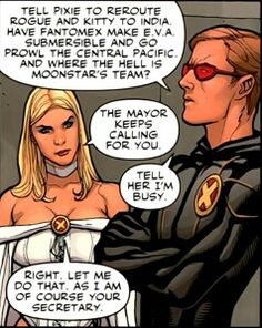 As I am of course your secretary  Emma Frost - Scott Summers