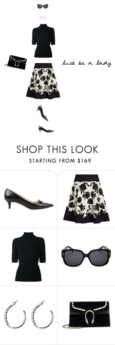 """She´s a lady"" by romaosorno ❤ liked on Polyvore featuring Prada, Alexander McQueen, Valentino, Christian Dior, Lady Grey, VERONA and Gucci"