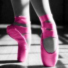 Hot Pink Pointe Shoes