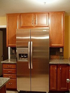 Kitchen Cabinets Around Fridge pantry cabinets around refrigerator- this is such a great idea