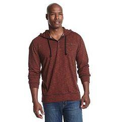 Ruff Hewn Men's End On End Slub Tonal Hooded Sweatshirt