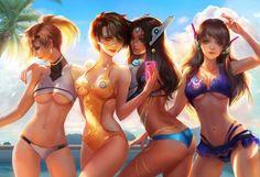 Overwatch hot beach time by jiuge.deviantart #overwatch #hot #costume #cosplay