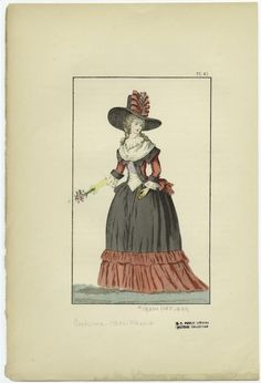[French woman, 1780s.]