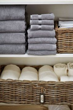 Baskets for nicely folded and rolled towels