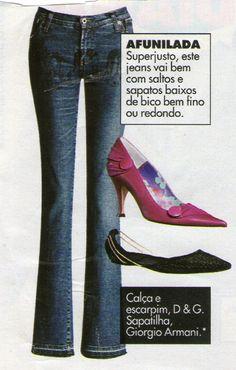 Coisas Bacanas: O sapato certo para cada tipo de calça