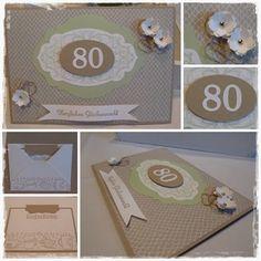 80. Geburtstag - Meine 1. Fondanttorte | 80. Geburtstag | Pinterest
