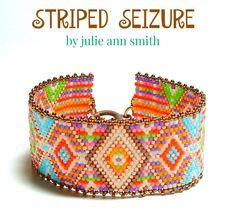 Julie Ann Smith Designs STRIPED SEIZURE Odd Count Peyote Bracelet Pattern