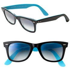 Ray-Ban 'Classic Wayfarer' 50mm Sunglasses Tortoise One Size ($155) found on Polyvore
