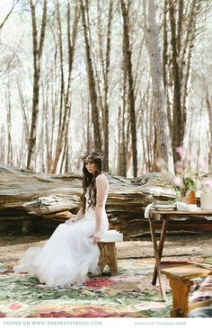 eclectic boho wedding the pretty blog 0111 The Enchanted Forest {Wedding Inspiration}