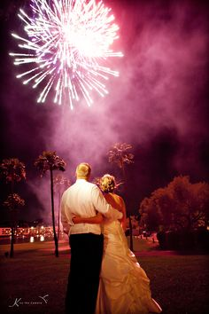 Clearly I'm obsessed with Fireworks.  #scottsdale #wedding #fireworks #purple #unique