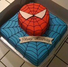 spiderman cake. would I be able to do that for Xavier's birthday???