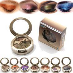 1 UNIDS Smoky Ojos Mate Color Mezclado Polvo de Hornear Sombra de Ojos Paleta Naked Nude Brillo Cosméticos Conjunto