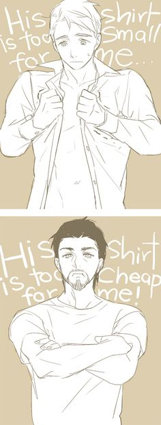 Tony/Steve: His shirt is... by mixed-blessing.deviantart.com