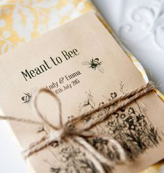 Are you interested in our wedding seed packet favour? With our eco bee wedding favour you need look no further.