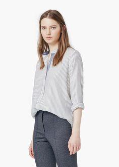 Striped flowy shirt   $60 --> 30 --> 15 --> 11.25