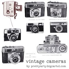Freebie : Vintage Cameras