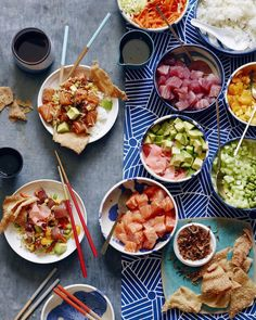 When @whatsgabycookin told me we were shooting a poke bowl story for her blog, my heart raced a bit and then I shoved every single thing into my face. #poke
