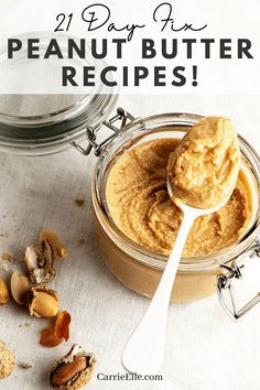 These 21 Day Fix peanut butter recipes are great for adding to your meal plans. They're family friendly peanut butter recipes as well! Delicious Desserts, Yummy Food, Whole Food Recipes, Healthy Recipes, Filling Food, Meal Planning Printable, Free Meal Plans, Peanut Butter Recipes, 21 Day Fix