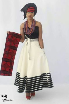 Modern Xhosa Design by Urban Zulu Xhosa Attire, African Attire, African Wear, African Women, South African Fashion, African Print Fashion, Ethnic Fashion, Africa Fashion, Style Fashion