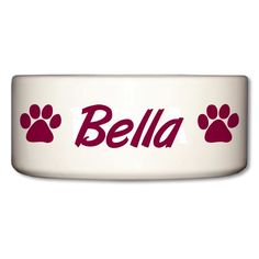 Ceramic Dog Bowl - Bella - Paw Prints Design >>> New and awesome product awaits you, Read it now  (This is an amazon affiliate link. I may earn commission from it)