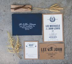 Masculine Indoor Wedding Inspiration