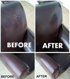 How to remove scratches from leather furniture surface step by step DIY tutorial. How to remove sc House Cleaning Tips, Diy Cleaning Products, Spring Cleaning, Cleaning Hacks, Car Cleaning, Cleaning Solutions, Couch Cleaning, Clean Freak, Toilet Cleaning