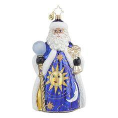 Christopher Radko Wonderful Wizard Santa Glass Christmas Ornament