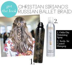 Get The Look: Fall Braids | Christian Siriano's Russian Ballet Braid