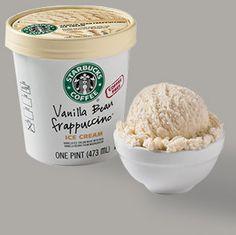 Starbucks Vanilla Bean Frappuccino ice cream- the best vanilla ice cream ever!